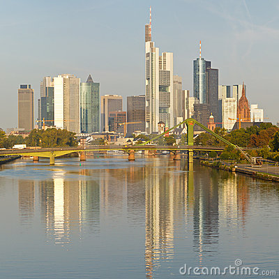Frankfurt Skyline and Financial District