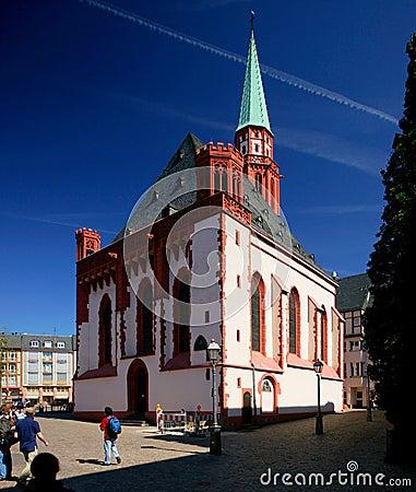 Frankfurt St. Nicolaus Church Editorial Photography