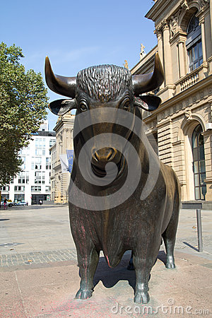 Frankfurt Stock Exchange Editorial Stock Image