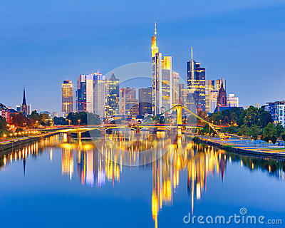 Frankfurt after sunset