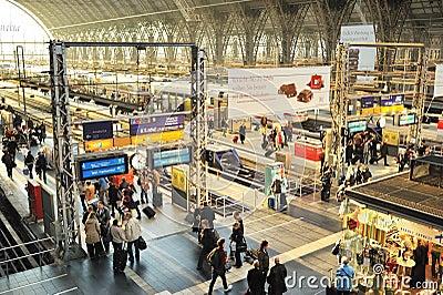 Frankfurt train station in daytime Editorial Image