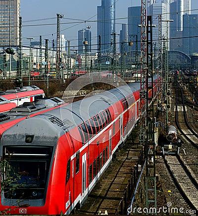 Frankfurt Train Terminal Editorial Photography
