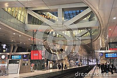 Frankfurt airport railway station Editorial Photo
