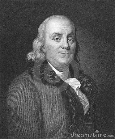 Franklin Benjamin Εκδοτική Στοκ Εικόνα