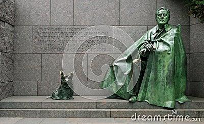 Franklin Delano Roosevelt Memorial Editorial Image