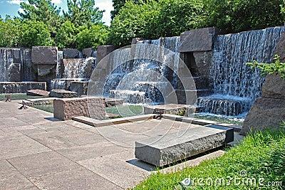 Franklin Delano Roosevelt Memorial in Washington Editorial Photography