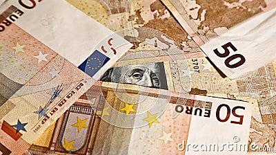 Franklin-Einfassung mit Euros