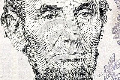 Franklin för 100 ben billclose makro upp