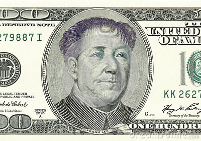Franklin ha convertito in Mao sulla banconota in dollari 100