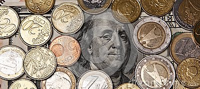 Franklin surround with euro coints