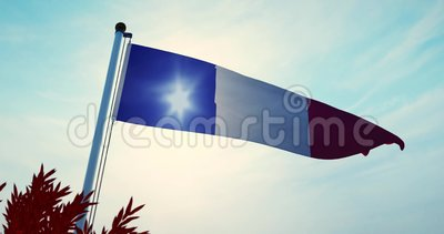 Frans Tricolor Waving or France Flag Banner Flying - 30fps 4k Video stock footage