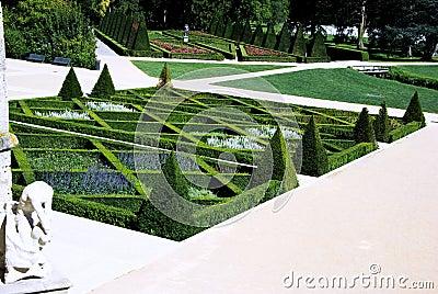 Franse tuin stock fotografie afbeelding 21041212 for Franse tuin