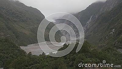 franz Josef nowej Zelandii lodowiec zdjęcie wideo