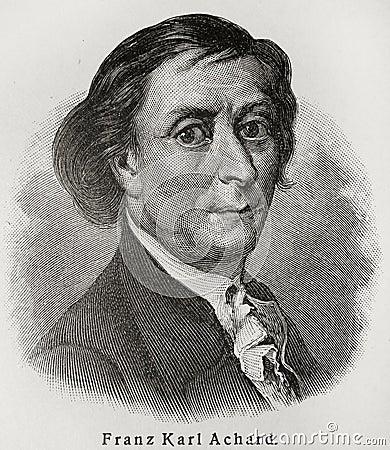 Franz Karl Achard Editorial Image