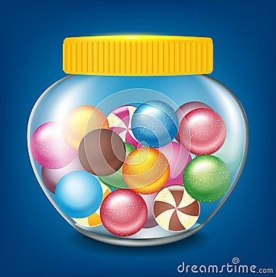 Frasco dos doces