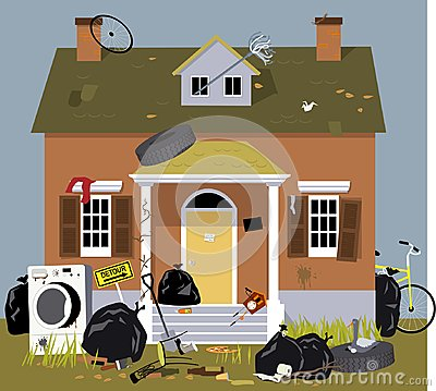 Free Fraternity House Unkept And Dirty Stock Photos - 121754833