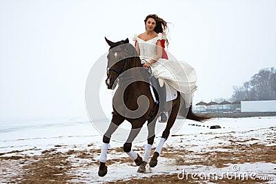 Frau auf einem Pferd