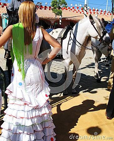 Frau am Feria