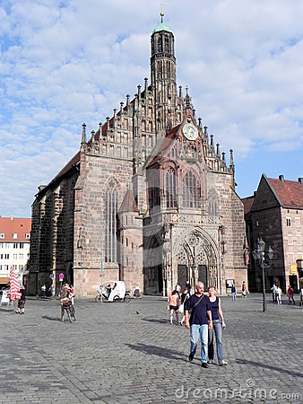 Frauenkirche  in Nuremberg Editorial Image