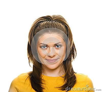 Frauennahaufnahmeportrait