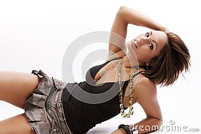 Frauenschönheit im Rock