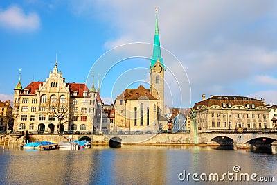 Fraumuenster Cathedral in Zurich