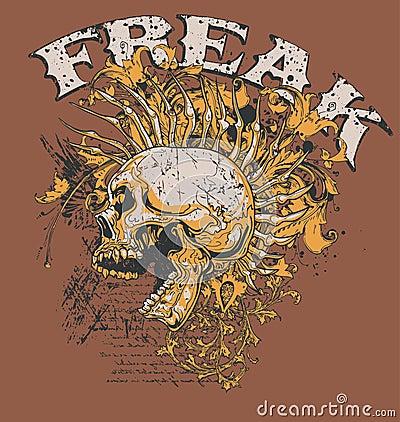 Free Freak Skull Design Stock Photo - 4333960