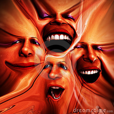 Free Freaky Female Emotions 14 Stock Photography - 2345612