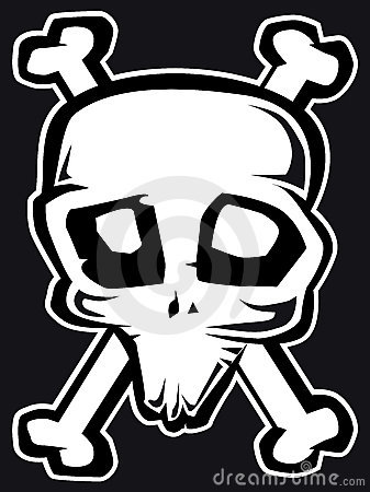 Freaky skull b&w