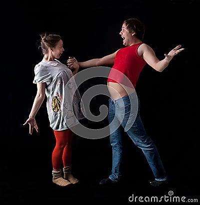 Freaky young couple