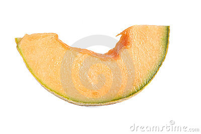 Freash cut cantalope melon isolated