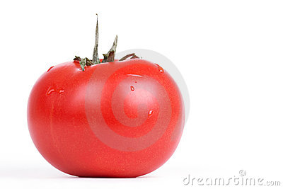 Freash tomato on white