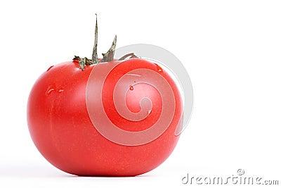 Freash tomato on white