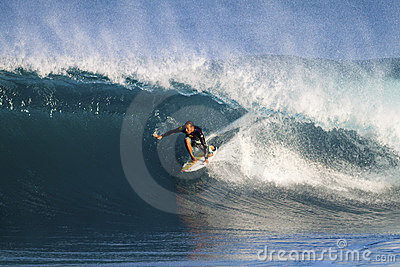 Fred Patacchia of Hawaii, Surfing at Backdoor Editorial Photo