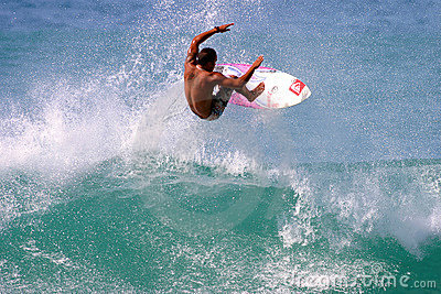 Fred Patacchia Surfing in Hawaii Editorial Stock Photo