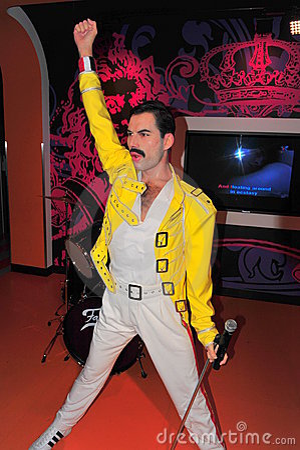 Freddie Mercury at Madame Tussaud s Editorial Photo