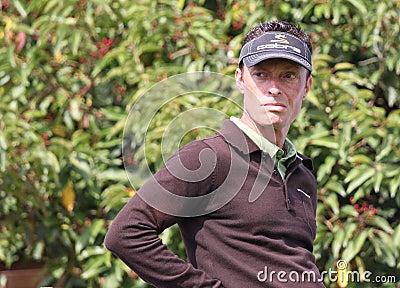 Frederic Cupillard at the Golf Open de Paris 2009 Editorial Stock Photo