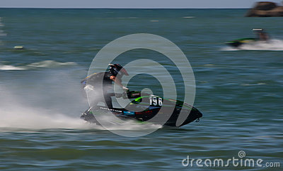 Frederico Gallego riding his jet Editorial Stock Photo