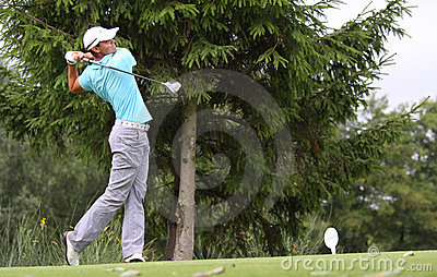 Fredrik Svanberg at the golf Prevens Trpohee 2009 Editorial Image