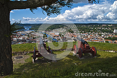 Fredriksten fortress in halden (old cannons)