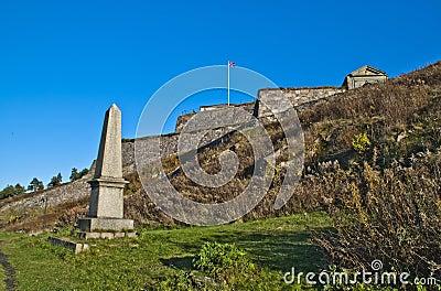 Fredriksten fortress, monument of tønne huitfeldt