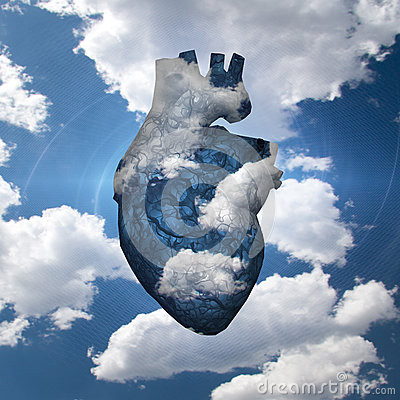Free Free Airy Heart Stock Images - 65229174