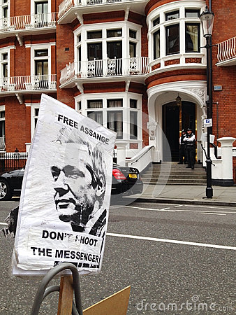 Free Free Assange Sign Royalty Free Stock Image - 27842286