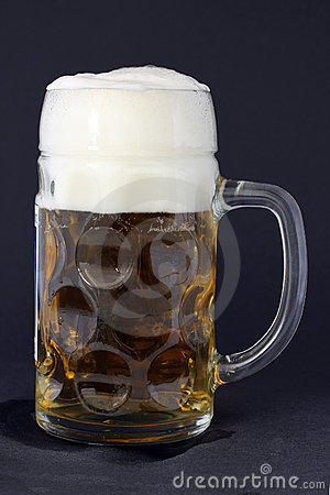 Free beer mug with foam