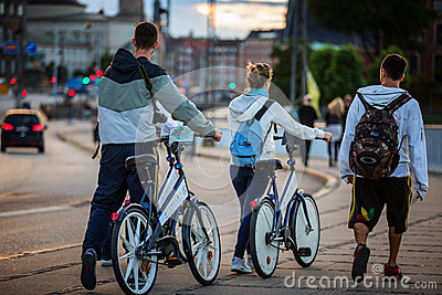 Free bicycles Editorial Photo