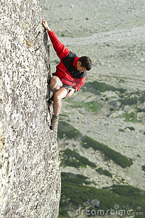 Free Free Climber, Unbelayed Royalty Free Stock Images - 15237089