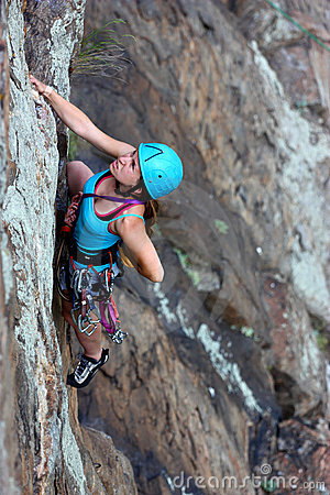 Free Free Female Climber Stock Image - 19866481