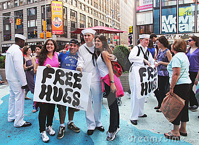Free hugs. Editorial Image