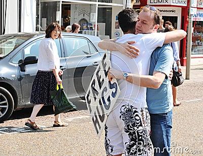 Free hugs Editorial Photo