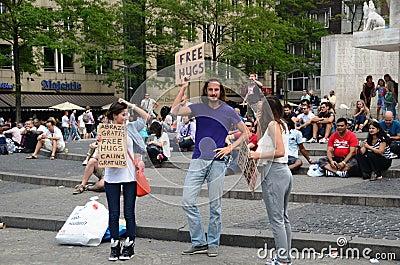 Free hugs people Editorial Stock Image